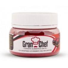 Corante em Pó Hidrossolúvel Gran Chef Vermelho 30g