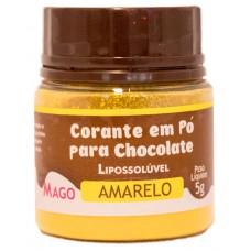 Corante em Pó p/ Chocolate Amarelo Lipossolúvel Mago 5g