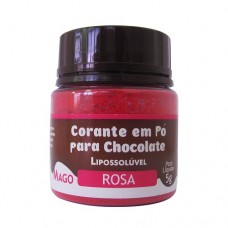 Corante em Pó p/ Chocolate Rosa Lipossolúvel Mago 5g