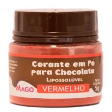 Corante em Pó p/ Chocolate Vermelho Lipossolúvel Mago 5g