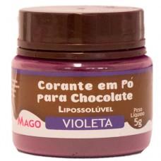 Corante em Pó p/ Chocolate Violeta Lipossolúvel Mago 5g